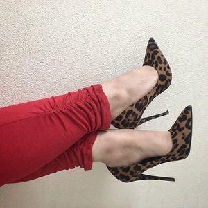 Cheetah high heels 4inch heel